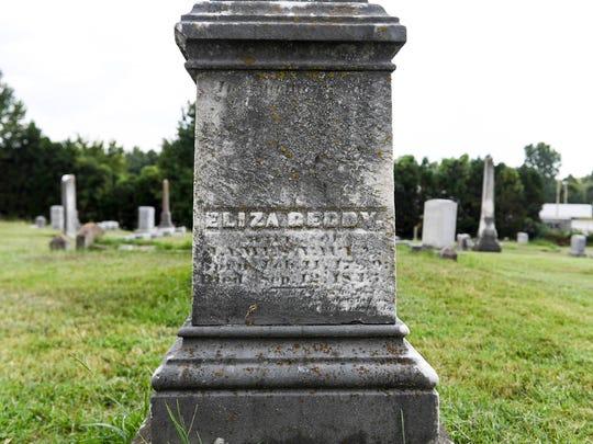 Eliza Geddy Vaulx is buried at Riverside Cemetery in