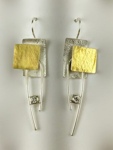 Earrings made by Nena Potts