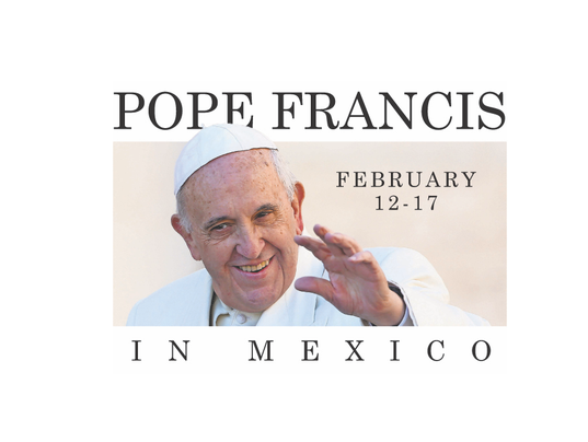 Pope in Mexico logo