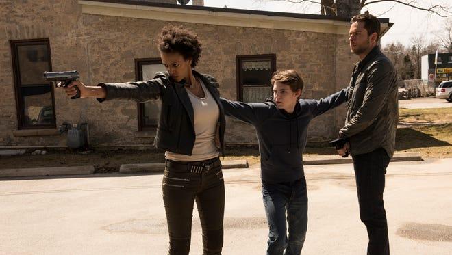 Judith Shekoni, Robbie Kay and Zachary Levi star in NBC's 'Heroes Reborn.'