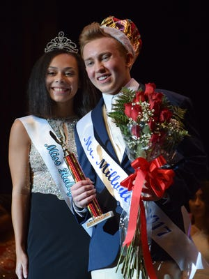 Philip Ballas, 18, of Millville was crowned Mr. Millville 2017 by Miss Holly City 2017 Daleishka Torres on Friday, Jan. 20 at Millville Senior HIgh School.