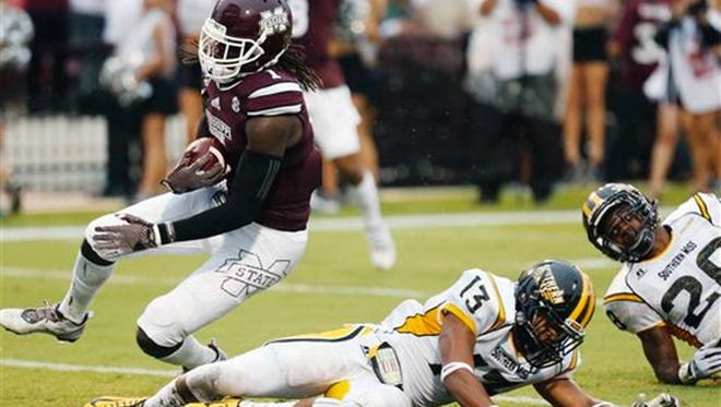 Wide receiver De'Runnya Wilson leads all MSU players with 11 targets through two games.