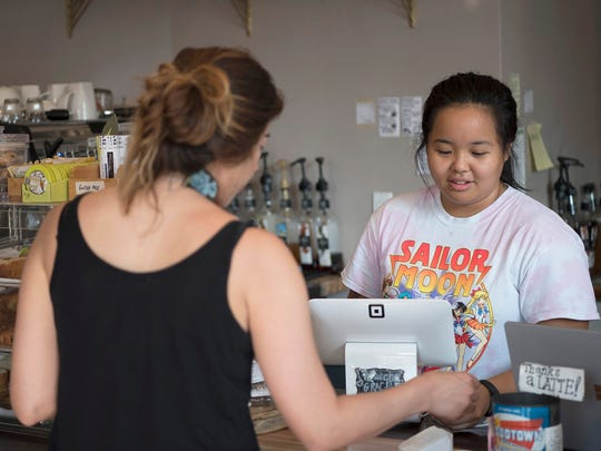 Lani Lin, 24, of New Milford, works at Jefferson's