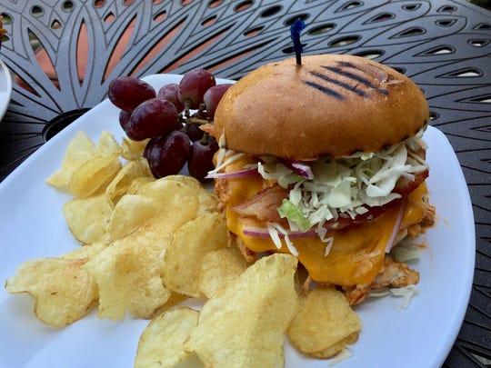 Chipotle BBQ sandwich special at Caffe Pagato.