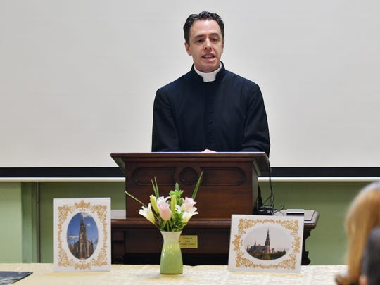 Canon Michael Stein speaks at St. Joseph Oratory May