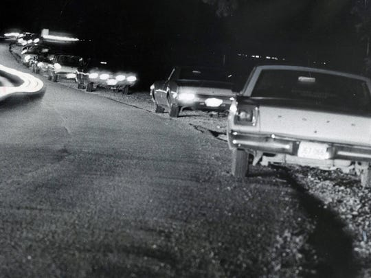 This closed-off street in Seneca Park was a gathering spot for teens in the late 1960s.