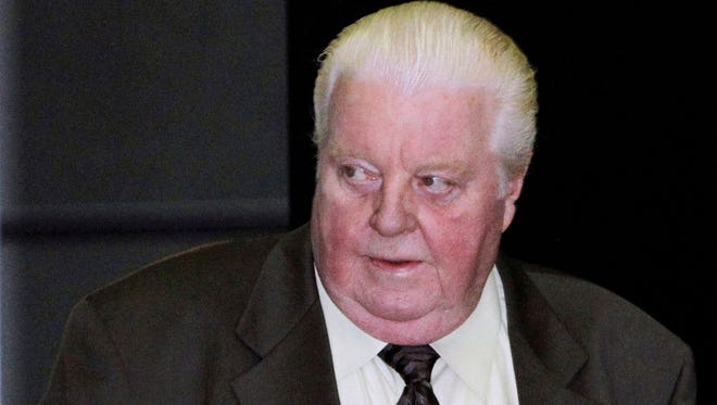 Former Chicago Police Lt. Jon Burge arrives in June 2010 at the federal building in Chicago. Burge was released from a halfway house in February 2015 after serving 4 1/2 years for lying about the torture of suspects.