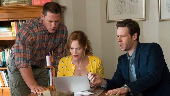 """From left, John Cena,  Leslie Mann and Ike Barinholtz star in """"Blockers."""""""