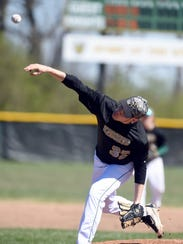 Northeastern's Hunter Kirkland pitches to Seton Saturday,