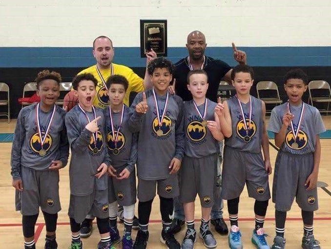 The Western North Carolina Warriors fifth-grade boys basketball team.