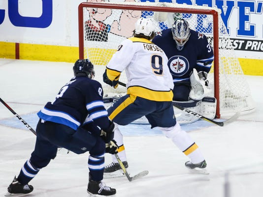 NHL: Stanley Cup Playoffs-Nashville Predators at Winnipeg Jets