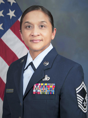 "Master Sergeant Melanie Tenorio Leon Guerrero was promoted to Senior Master Sergeant on February 15. She is the daughter of Johnny (Molo) Baza Leon Guerrero and Magdalena Atoigue Tenorio familian ""Labucho"". Currently assigned to the Joint Forces Headquarters, Sacramento, California. Senior Master Sergeant Leon Guerrero is the Personnel Superintendent, Air Division (A1)."