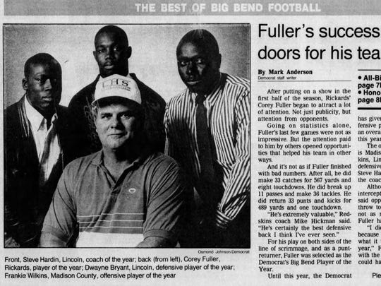 Current Godby coach Corey Fuller, the 2017 All-Big Bend Coach of the Year, was the 1989 All-Big Bend Player of the Year while at Rickards.