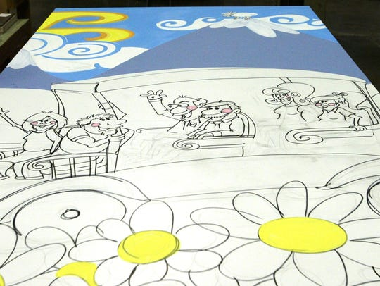 A mural is being created at RCS Empowers in Sheboygan