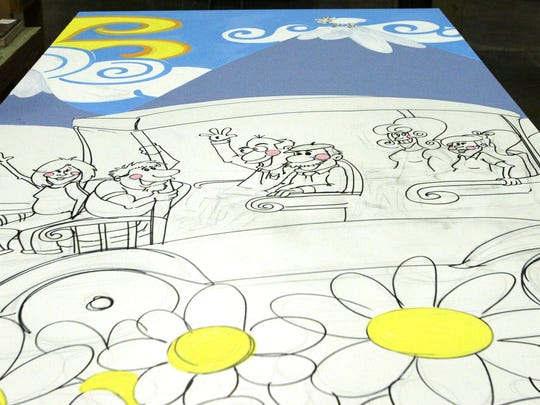 A mural is being created at RCS Empowers in Sheboygan to celebrate the organisation's 60th year. It will be unveiled during a celebration Sept. 22, 2015.