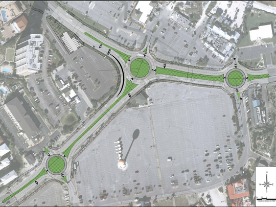 Pensacola Beach roundabout plans: Construction cost estimate drops