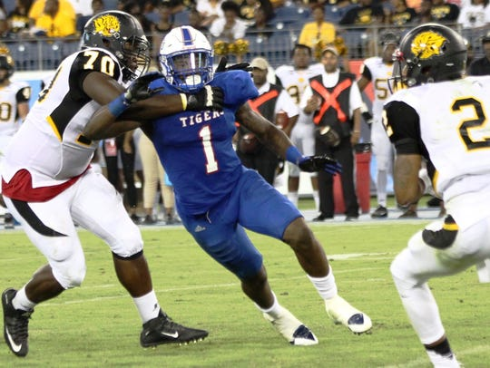 TSU defensive end Ebo Ogundeko isn't expected to play