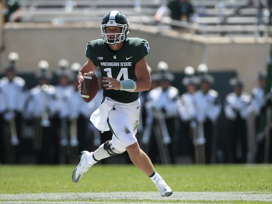Sept. 2: Brian Lewerke throws for 250 yards and three