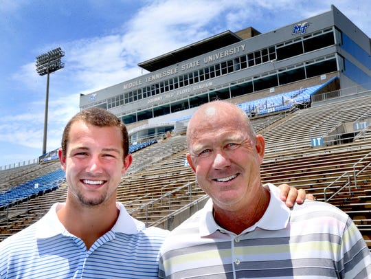 MTSU football player Brent Stockstill and his father