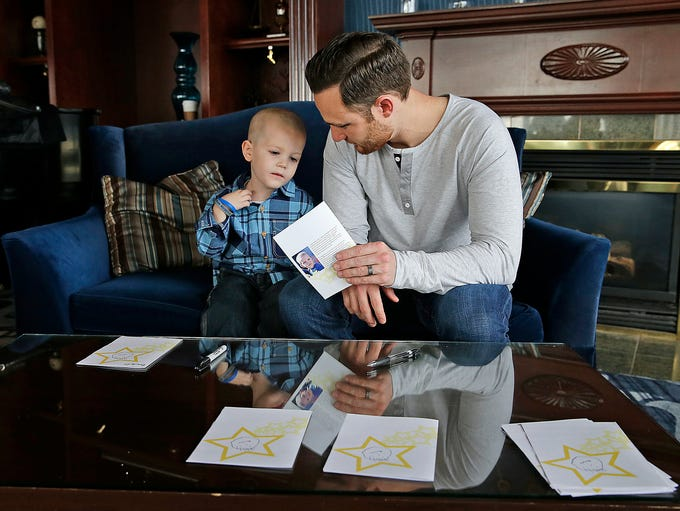 Four-year-old Beckett Roerdink of Greenville designed