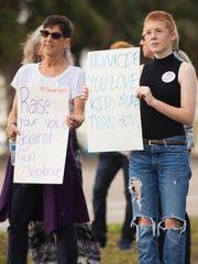 Libby Jones, 15, right, a Cypress Lake High School