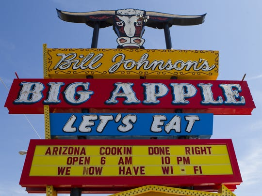 Sign of the now closed Bill Johnson's Big Apple