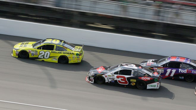 The NASCAR Sprint Cup Series race at Michigan International Speedway on Aug. 16, 2015, in Brooklyn.