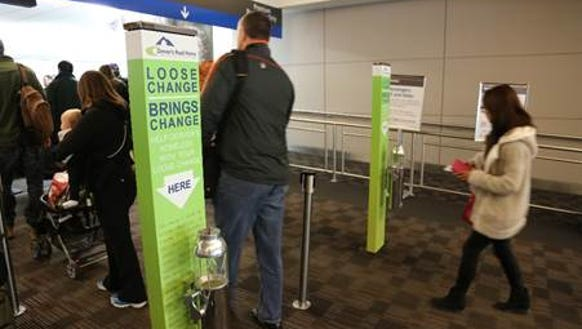 Denver International Airport has had spare change kiosks