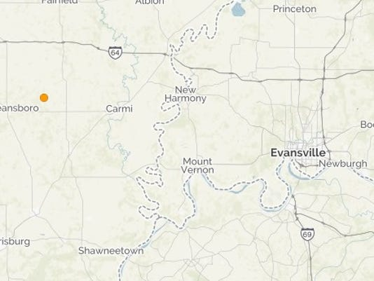 Evansville Illinois Map.Third Southern Illinois Quake Reported