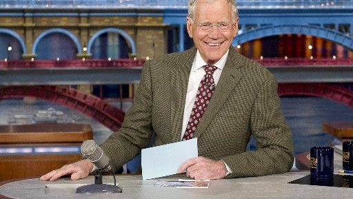 David Letterman is counting down to his last show.