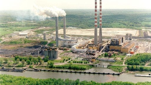 TVA's Cumberland Fossil Plant, seen in 2002