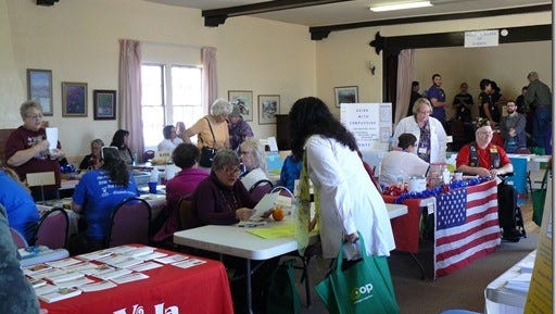 Last year's Community Outreach that was held at the Silver City Woman's Club.