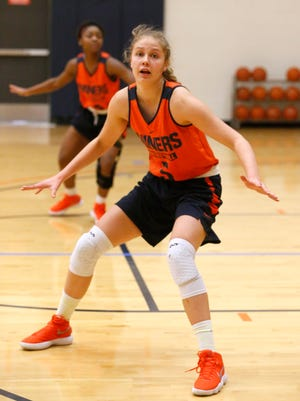 UTEP forward Zuzanna Puc goes through practice Tuesday morning along with the rest of her teammates as they prepare for the teams upcoming game against FIU Friday January 5, in Miami, Florida. The Miners will enter the game with a record of 9-4 and are on a two game winning streak.