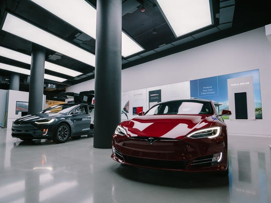 Tesla's store in New York city features its solar offering