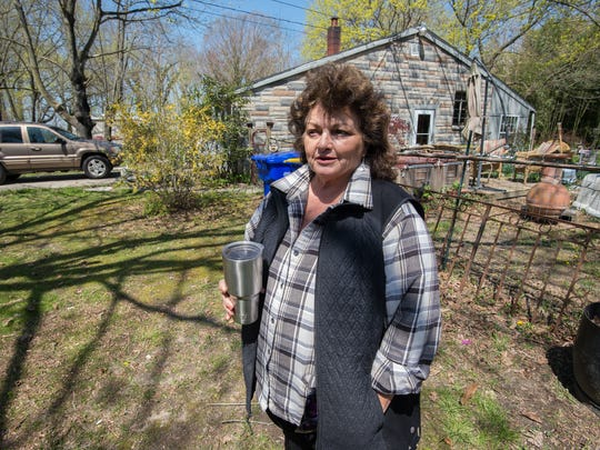 Annie Bishop of Milton talks about how the nitrate levels at her home were found to be too high because Clean Delaware was spraying their waste in the farm fields near her house.