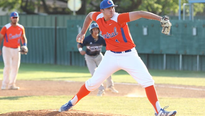 San Angelo Central High School pitcher Spencer Burress and the Bobcats will take on South Grand Prairie in a Class 6A Region I bidistrict playoff series at Eastland High School this weekend.