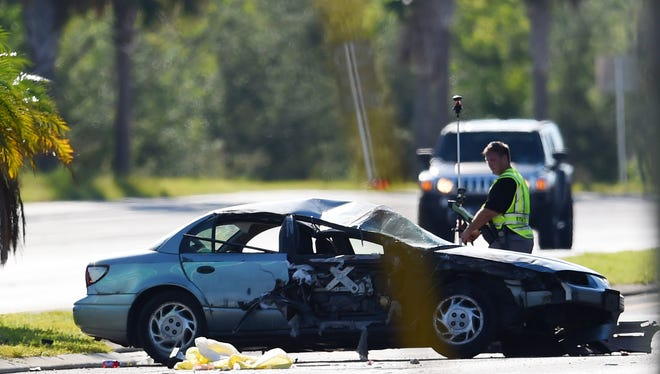 A rollover crash killed a young girl and injured another child early Thursday, Nov. 9, 2017, according to the Florida Highway Patrol. A Saturn was traveling south in the center lane when its right front struck the left rear of a pickup, an older model Ford F150, according to FHP Sgt. Raymond Stuhr. The car rolled several times, throwing the girl out of the vehicle, said FHP spokesman Mark Wysocky. He said the girl was 3 or 4 years old.