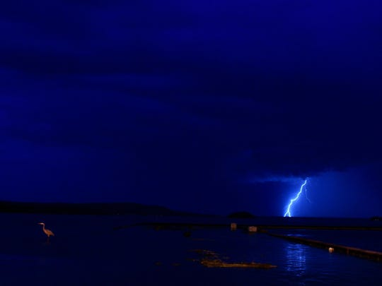 Lightning at St. Albans Bay.