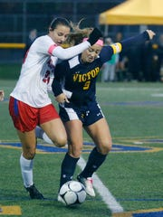 Fairport's Claire Myers and Victor's Emily Leonard