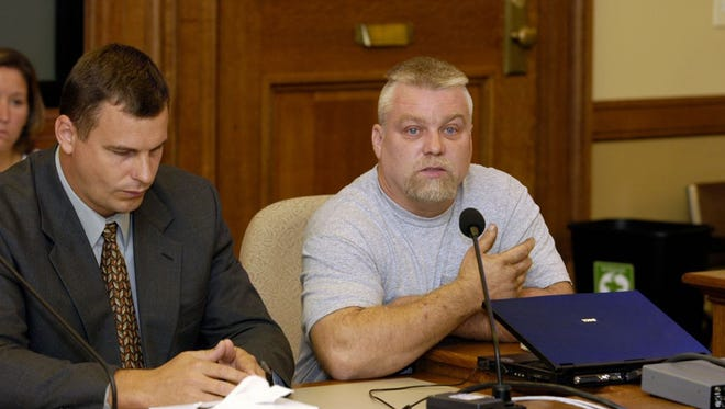 Steven Avery, right, is the subject of the Netflix documentary series, 'Making a Murderer.'