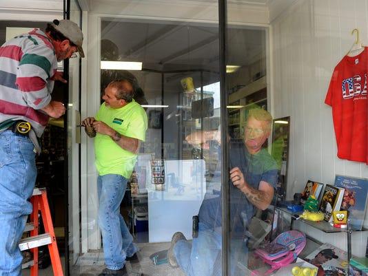 Downtown business damaged in break-in
