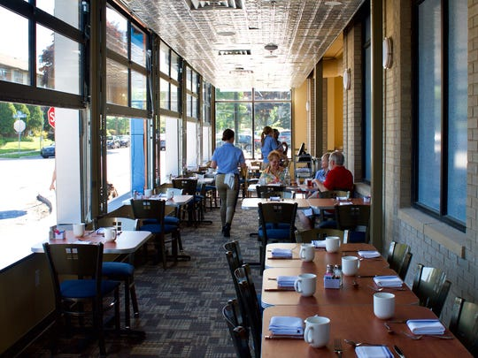 A four-season room with retractable windows was added to the building for Blue's Egg restaurant. The restaurant will be open in Shorewood from 7 a.m. to 2 p.m. daily as of May 29.