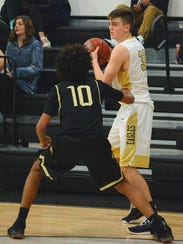 Abilene High's MItchell Watts looks for somewhere to