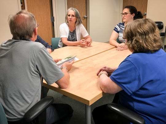 A grief support group held by McLaren Hospice meets.