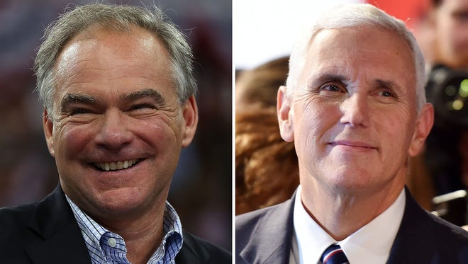 Democrat Tim Kaine (left) and Republican Mike Pence faced off Tuesday, Oct. 4, 2016, in the vice presidential debate in Farmville, Va.