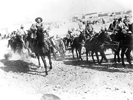 1917 Mexican Train Dynamited By Villa Band