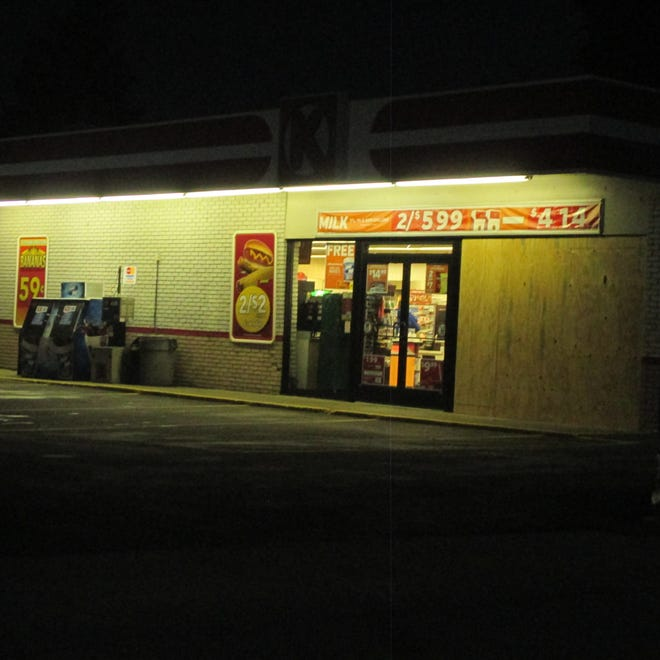 A car crashed into the window at the Circle K Store yesterday around 3:30 p.m.