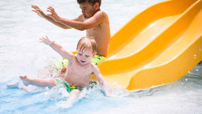 Tuhey Pool opened at noon Saturday, May 26, to a line of swimmers. The pool will be open from noon until 7 p.m. for the remainder of the season.