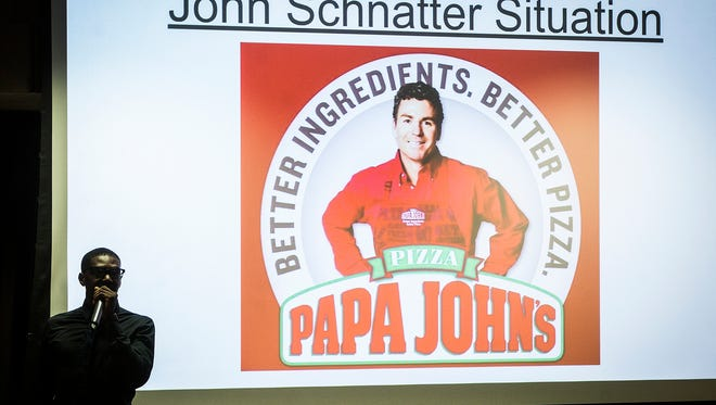 "More than 100 students attended an open forum at Ball State's student center on the topic of Papa John's founder John Schnatter's use of the n-word. The Black Student Association is considering a boycott of the restaurant and reviewed a list of around twenty ""requests"" during the forum to be presented to the school board. The list included a public apology from Schnattner, revoking of Schnattner's honorary degree and removal of the Papa John's restaurant currently located in the university's Atrium."