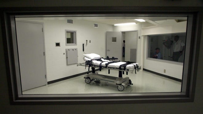 The execution chamber at Holman Correctional Facility in Atmore in 2002.